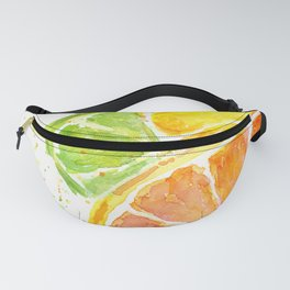 Fruit Watercolor Citrus Fanny Pack