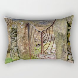 Gate To Tryfan Snowdonia Rectangular Pillow