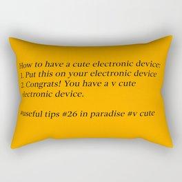 Useful Tips #1 Rectangular Pillow