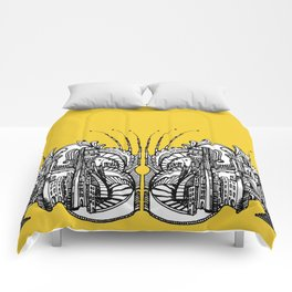 Enchanted City (Genova, Italy) - Duvet Cover - Gold Comforters