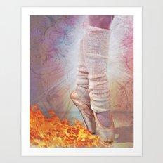Ballet Shoes & Flames of Fire Art Print