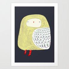 Fat Owl Art Print