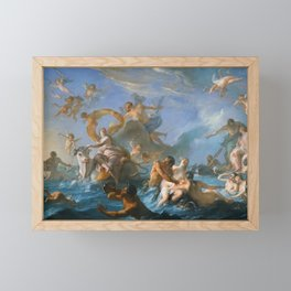 The Abduction of Europa by Noel-Nicolas Coypel, 1727 Framed Mini Art Print