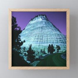 Fantasy Blue Ridge Mountain With Purple Sky Framed Mini Art Print