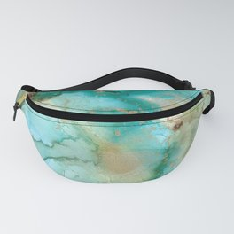 Alcohol Ink 'Mermaid' Fanny Pack