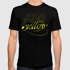 Queen of yellow Mens Fitted Tee Black MEDIUM