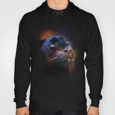 Colorful Expressions Black Leopard Hoody
