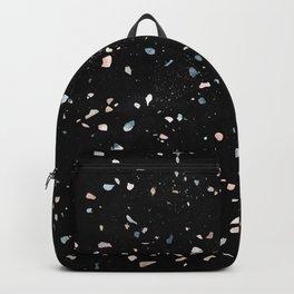 Terrazzo Memphis black galaxy Backpack