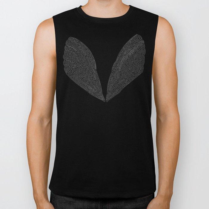 Black Cicada Wings Biker Tank