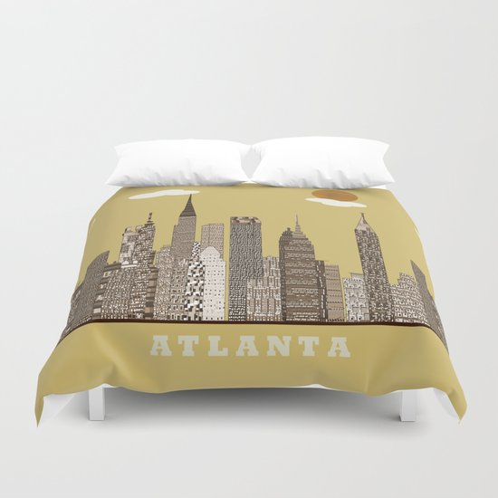 Atlanta city vintage Duvet Cover