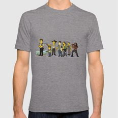 The Walking Dead cast Tri-Grey LARGE Mens Fitted Tee
