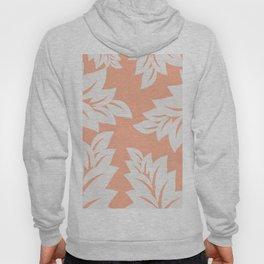 tropical coral leaves Hoody
