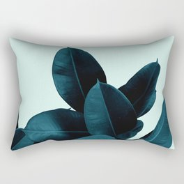 Blue Leaves Rectangular Pillow