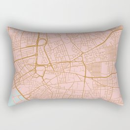 Liverpool map, UK Rectangular Pillow