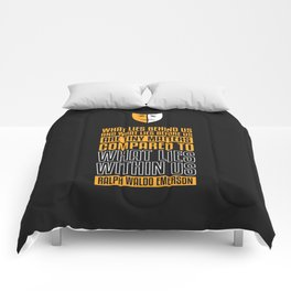 Lab No. 4 What Lies Behind Us Ralph Waldo Emerson Life Inspirational Quote Comforters