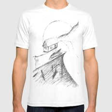 If only... White MEDIUM Mens Fitted Tee