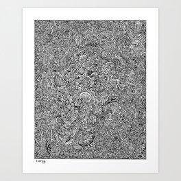 Obsessentanglemesh Art Print