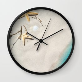 Beach Shore Scene Wall Clock