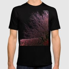 Along a Misty Bank Black MEDIUM Mens Fitted Tee