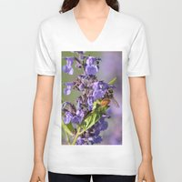 bee V-neck T-shirts featuring Bee by Stecker Photographie