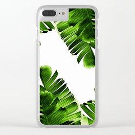 Green banana leaf Clear iPhone Case