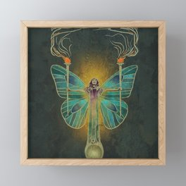 Keeper Of The Ancient Flame Framed Mini Art Print