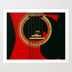 Guitar Sound Hole Art Print