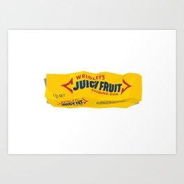 Discarded gum wrapper Art Print