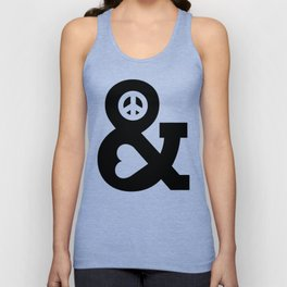 Peace and Love Unisex Tank Top