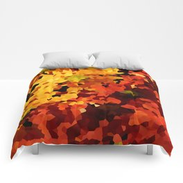 Yellow and Red Sunflowers Comforters
