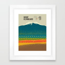 Mount Kilimanjaro Framed Art Print