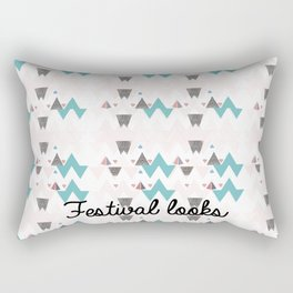 Festival trouser pattern Rectangular Pillow
