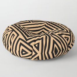 African Geometric Tribal Pattern 2 Floor Pillow