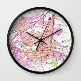 Vintage Map of Frederick Maryland (1953) Wall Clock