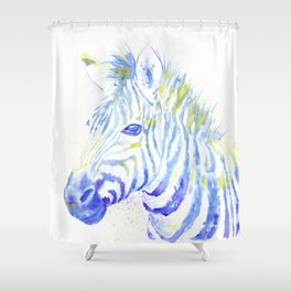 Quiet Zebra Shower Curtain
