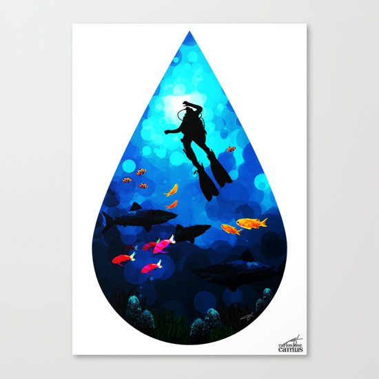 Diver of the Blue Canvas Print
