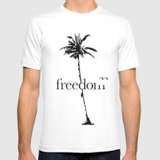 free. Mens Fitted Tee White MEDIUM