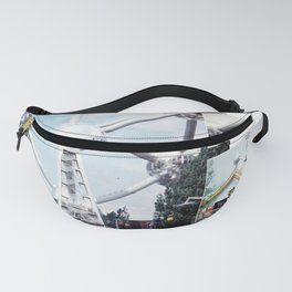 Vintage Atomium Brussels Photo Collage Fanny Pack