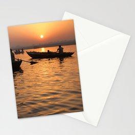 Tourists Enjoying Sunrise on the Ganges Stationery Cards
