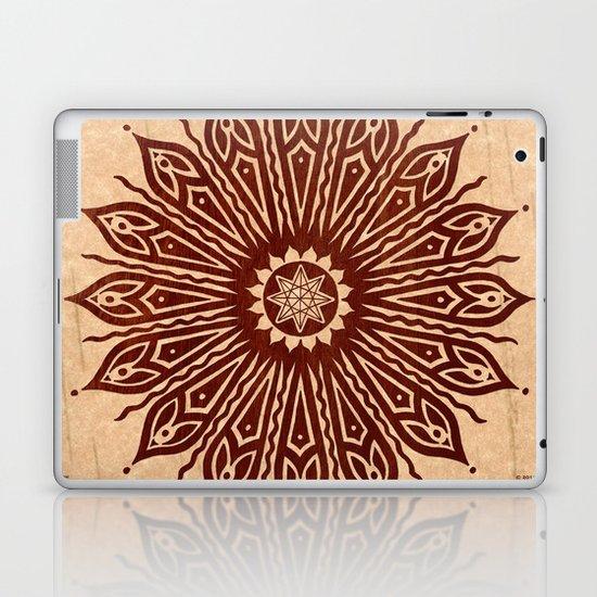 ozorahmi wood mandala Laptop & iPad Skin