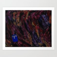 The TARDIS in Outer Space Art Print