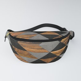 Urban Tribal Pattern No.10 - Aztec - Concrete and Wood Fanny Pack