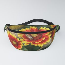 Bees on Blanket Flowers Fanny Pack