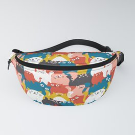 Cats Crowd Pattern Fanny Pack