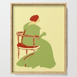 Living posters minimalist art nouveau Serving Tray