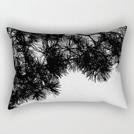 Pine Tree Black & White Rectangular Pillow