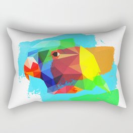 Multicolor parrot print, animal printable wall art, colored parrot, colored wall art, colored decor Rectangular Pillow