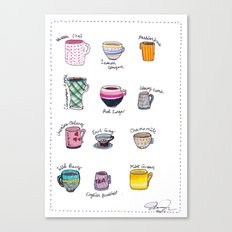 United States of Tea Canvas Print