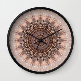 Mandala romantic pink Wall Clock