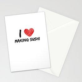 I Love Making Sushi Stationery Cards